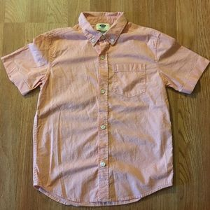 Boys Short Sleeved Collard Shirt